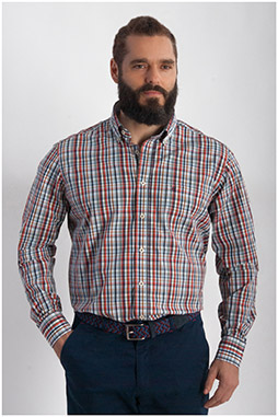 Camisas, Sport Manga Larga, 107857, GRANATE