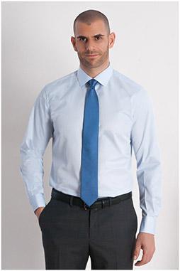 Camisas, Vestir Manga Larga, 107949, CELESTE