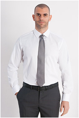 Camisas, Vestir Manga Larga, 107949, BLANCO