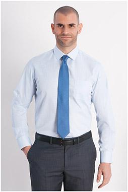 Camisas, Vestir Manga Larga, 107950, CELESTE