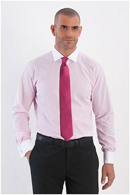 Camisas, Vestir Manga Larga, 107967, ROSA