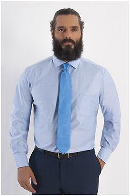 Camisas, Vestir Manga Larga, 108151, CELESTE