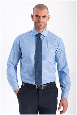 Camisas, Vestir Manga Larga, 108152, CELESTE