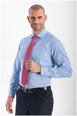 Camisas, Vestir Manga Larga, 108154, CELESTE