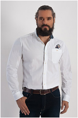 Camisas, Sport Manga Larga, 108260, BLANCO