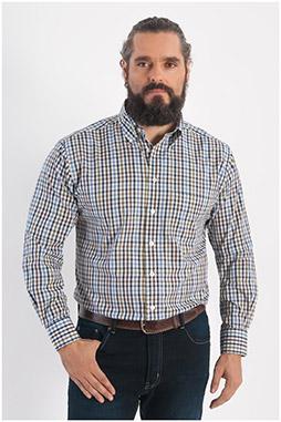 Camisas, Sport Manga Larga, 108275, BEIGE