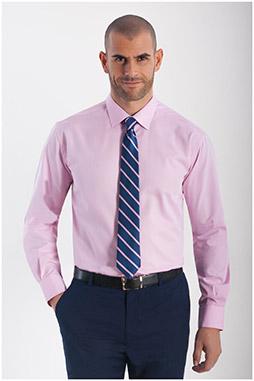 Camisas, Vestir Manga Larga, 108292, ROSA