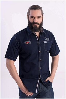 Camisas, Sport Manga Corta, 108415, MARINO