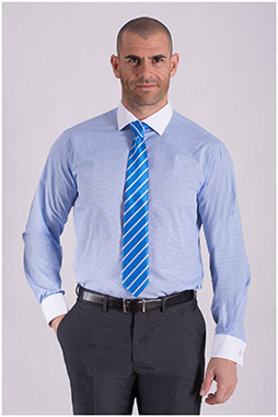 Camisas, Vestir Manga Larga, 108432, CELESTE