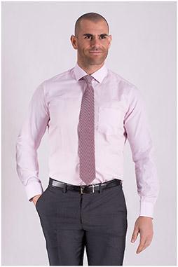 Camisas, Vestir Manga Larga, 108505, ROSA