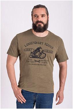 Sport, Camisetas M. Corta, 108513, KAKI