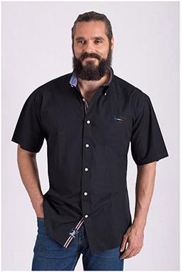 Camisas, Sport Manga Corta, 108518, NEGRO