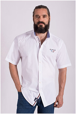 Camisas, Sport Manga Corta, 108518, BLANCO