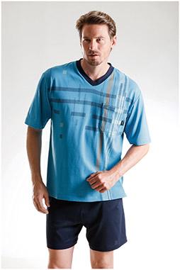 Homewear, Pijama M. Corta, 108526, CELESTE
