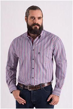 Camisas, Sport Manga Larga, 108553, GRANATE