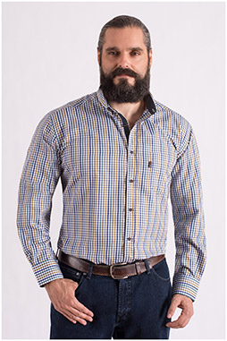 Camisas, Sport Manga Larga, 108553, BEIGE