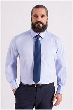 Camisas, Vestir Manga Larga, 108556, CELESTE