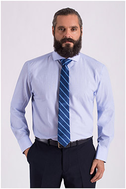 Camisas, Vestir Manga Larga, 108557, CELESTE