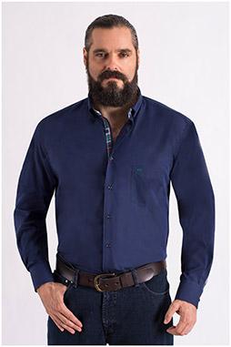 Camisas, Sport Manga Larga, 108560, MARINO