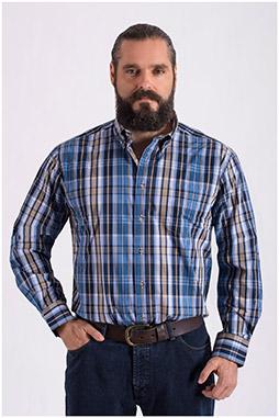 Camisas, Sport Manga Larga, 108634, AZUL