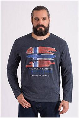 Sport, Camisetas M. Larga, 108651, GRIS MEDIO