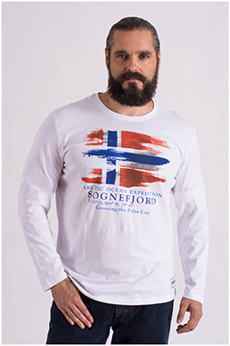 Sport, Camisetas M. Larga, 108651, BLANCO
