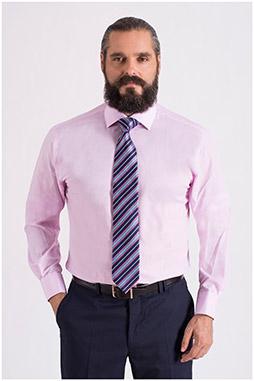Camisas, Vestir Manga Larga, 108660, ROSA