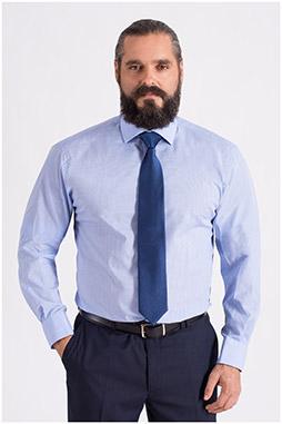 Camisas, Vestir Manga Larga, 108660, CELESTE