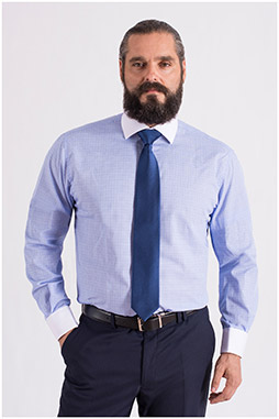 Camisas, Vestir Manga Larga, 108661, CELESTE