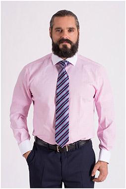 Camisas, Vestir Manga Larga, 108661, ROSA