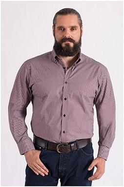 Camisas, Sport Manga Larga, 108665, GRANATE
