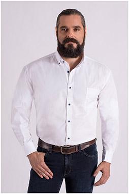 Camisas, Sport Manga Larga, 108667, BLANCO