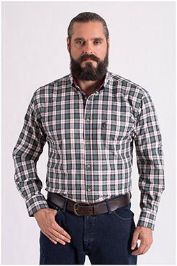 Camisas, Sport Manga Larga, 108668, VERDE