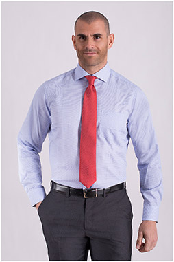 Camisas, Vestir Manga Larga, 108732, CELESTE