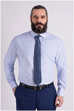 Camisas, Vestir Manga Larga, 108976, CELESTE