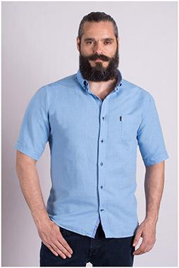 Camisas, Sport Manga Corta, 108981, CELESTE