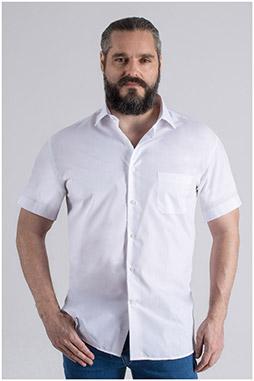 Camisas, Vestir Manga Corta, 108990, BLANCO