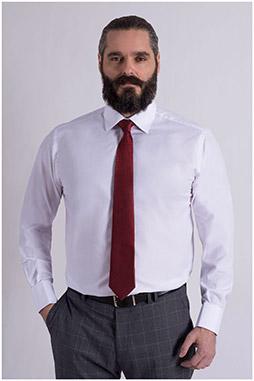 Camisas, Vestir Manga Larga, 108993, BLANCO