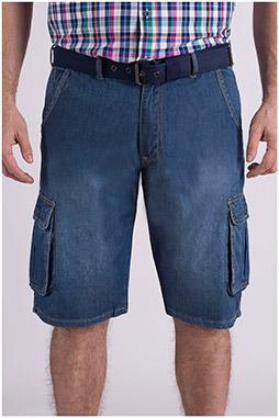 Pantalones, Bermudas, 109066, INDIGO