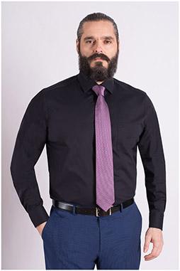 Camisas, Vestir Manga Larga, 109124, NEGRO