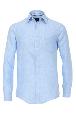 Camisas, Vestir Manga Larga, 109226, CELESTE