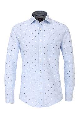 Camisas, Vestir Manga Larga, 109230, CELESTE