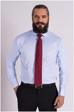 Camisas, Vestir Manga Larga, 109327, CELESTE