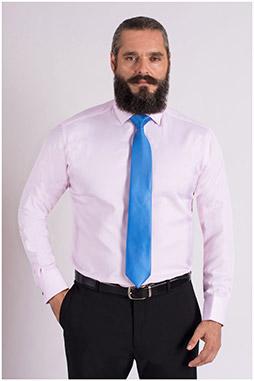Camisas, Vestir Manga Larga, 109327, ROSA
