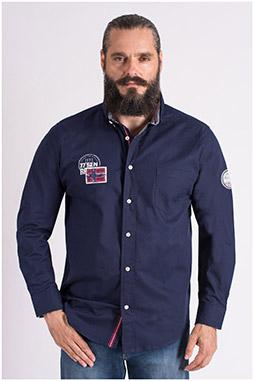 Camisas, Sport Manga Larga, 109385, MARINO