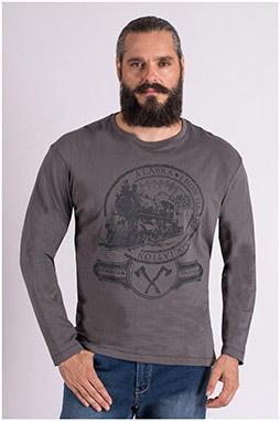 Sport, Camisetas M. Larga, 109393, PIEDRA