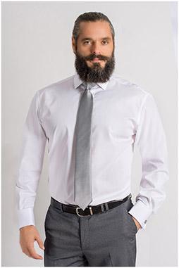 Camisas, Vestir Manga Larga, 109401, BLANCO
