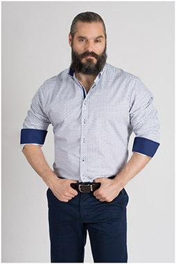 Camisas, Sport Manga Larga, 109589, MARINO