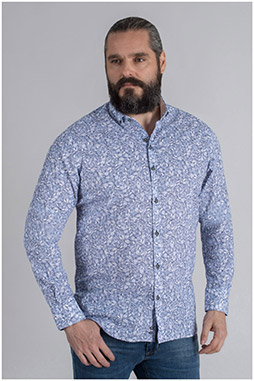 Camisas, Sport Manga Larga, 109625, CELESTE