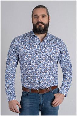 Camisas, Sport Manga Larga, 109626, MARINO